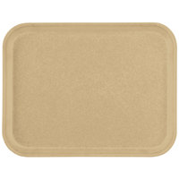 Carlisle 1410FG025 Customizable10 inch x 14 inch Glasteel Beige Fiberglass Tray - 12/Case