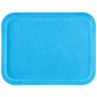 Carlisle 1612FG97003 Customizable 12 inch x 16 inch Glasteel Pacific Blue Fiberglass Tray - 12/Case