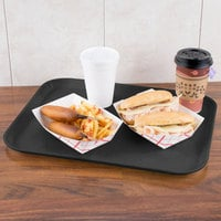 Carlisle 1814FG004 Customizable 14 inch x 18 inch Glasteel Black Fiberglass Tray   - 12/Case