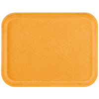 Carlisle 1612FG019 Customizable 12 inch x 16 inch Glasteel Rust Fiberglass Tray - 12/Case