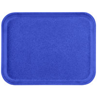 Carlisle 1612FG014 Customizable 12 inch x 16 inch Glasteel Cobalt Blue Fiberglass Tray - 12/Case