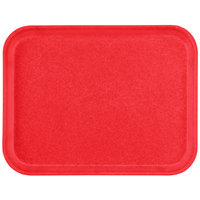 Carlisle 1612FG017 Customizable 12 inch x 16 inch Glasteel Red Fiberglass Tray - 12/Case