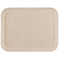 Carlisle 1612FG095 Customizable 12 inch x 16 inch Glasteel Almond Fiberglass Tray - 12/Case