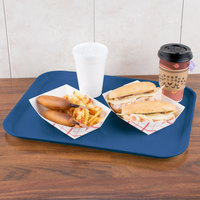 Carlisle 1814FG015 Customizable14 inch x 18 inch Glasteel Navy Fiberglass Tray   - 12/Case
