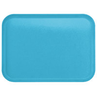 Carlisle 1814FG011 Customizable14 inch x 18 inch Glasteel Turquoise Fiberglass Tray   - 12/Case