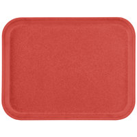Carlisle 1612FG020 Customizable 12 inch x 16 inch Glasteel Coral Fiberglass Tray - 12/Case