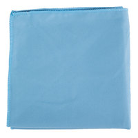 Knuckle Buster MFGT15BL 15 inch x 15 inch Blue Microfiber Glass / Fine Polishing Cloth - 12/Pack