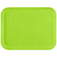 Carlisle 1612FG009 Customizable 12 inch x 16 inch Glasteel Lime Fiberglass Tray - 12/Case