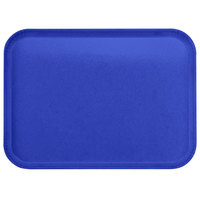 Carlisle 1814FG014 Customizable 14 inch x 18 inch Glasteel Cobalt Blue Fiberglass Tray   - 12/Case