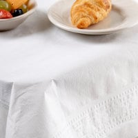 Hoffmaster 210066 72 inch x 72 inch White Tissue / Poly Table Cover - 25/Case