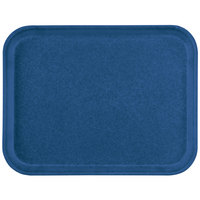 Carlisle 1612FG015 Customizable 12 inch x 16 inch Glasteel Navy Fiberglass Tray - 12/Case