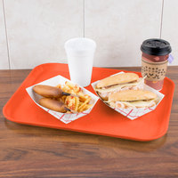 Carlisle 1814FG018 Customizable14 inch x 18 inch Glasteel Orange Fiberglass Tray   - 12/Case