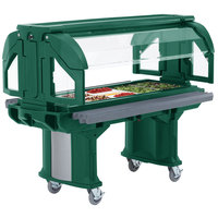 Cambro VBRHD6519 Green 6' Versa Food / Salad Bar with Heavy-Duty Casters
