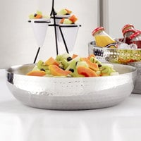 American Metalcraft HMDWB14 14 inch Double Wall Hammered Stainless Steel Bowl