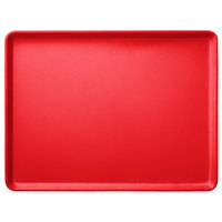 Carlisle 1216LFG017 Customizable 12 inch x 16 inch Glasteel Red Dietary Fiberglass Tray - 12/Case