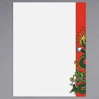 8 1/2 inch x 11 inch Menu Paper - Asian Themed Dragon Design Right Insert - 100/Pack