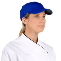 Headsweats Royal Blue Customizable 5-Panel Chef Cap with Eventure Fabric and Terry Sweatband