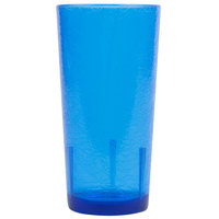 Cambro D16608 Del Mar 16 oz. Sapphire Blue Customizable SAN Plastic Tumbler - 36/Case