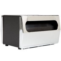 Vollrath 6515-06 Black Two Sided Tabletop Minifold Napkin Dispenser with Chrome Faceplate