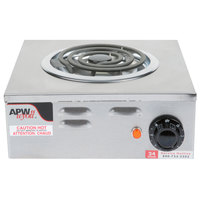 APW Wyott CP-1A Workline Single Open Burner Portable Electric Hot Plate - 120V, 1250W