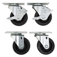 Beverage-Air 00C26-012A 3 inch Plate Casters - 4/Set