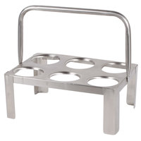 Stainless Steel 6-Cylinder Flatware Carrier with Handle