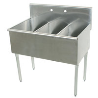 Advance Tabco 6-43-72 Three Compartment Stainless Steel Commercial Sink - 72 inch