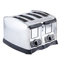Proctor Silex 24850 4 Slice Commercial Toaster with 1 1/2 inch Wide Slots