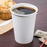 Choice 12 oz. White Poly Paper Hot Cup - 1000/Case
