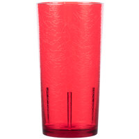 Cambro D24156 Del Mar 24 oz. Ruby Red Customizable SAN Plastic Tumbler - 36/Case