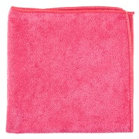 Unger MB40R SmartColor MicroWipe 16 inch x 16 inch Red Medium-Duty Microfiber Cleaning Cloth   - 10/Pack