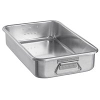 Vollrath 68366 Wear-Ever 11.25 Qt. Aluminum Roasting Pan with Handles - 19 3/4 inch x 10 7/8 inch x 3 5/8 inch