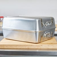 Vollrath 68360 Wear-Ever 23.25 Qt. Aluminum Double Roaster Pan - 20 1/8 inch x 16 1/8 inch x 9 3/4 inch