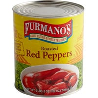 Furmano's #10 Can Roasted Red Peppers - 6/Case