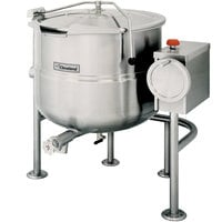 Cleveland KDL-100-T 100 Gallon Tilting 2/3 Steam Jacketed Direct Steam Kettle