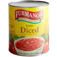 Furmano's Petite Diced Tomatoes with Juice #10 Can