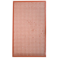 Cactus Mat 2530-R5BX VIP TopDek Junior 3' x 5' Red Rubber Grease-Resistant Anti-Fatigue Floor Mat - 1/2 inch Thick