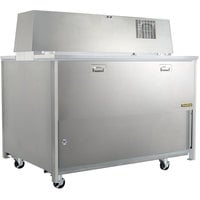 Traulsen RMC34S6 34 inch Single Sided School Milk Cooler with 6 inch Casters