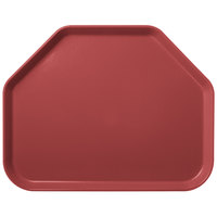 Carlisle 1713FG069 Customizable 14 inch x 18 inch Glasteel Raspberry Trapezoid Fiberglass Tray - 12/Case