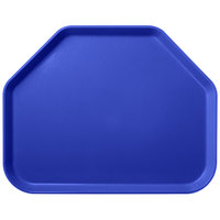 Carlisle 1713FG014 Customizable 14 inch x 18 inch Glasteel Cobalt Blue Trapezoid Fiberglass Tray - 12/Case