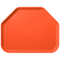 Carlisle 1713FG018 Customizable 14 inch x 18 inch Glasteel Orange Trapezoid Fiberglass Tray - 12/Case