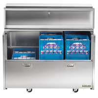 Traulsen RMC58D4 58 inch Double Sided School Milk Cooler with 4 inch Casters