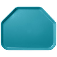 Carlisle 1713FG006 Customizable 14 inch x 18 inch Glasteel Ultramarine Trapezoid Fiberglass Tray - 12/Case