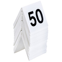 GET NUM-26-50 Numbers 26 Through 50 Table Tent Number