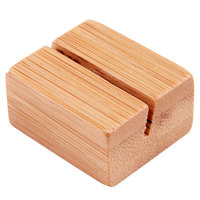 American Metalcraft BAMCH125 1 1/4 inch Natural Bamboo Card Holder