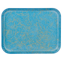 Carlisle 1410DFG029 Customizable 10 inch x 14 inch Glasteel Starfire Blue Fiberglass Tray - 12/Case
