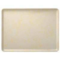 Carlisle 1418LDFG031 Customizable 14 inch x 18 inch Glasteel Starfire Beige Dietary Fiberglass Tray   - 12/Case