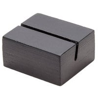 American Metalcraft BAMBL125 1 1/4 inch Black Bamboo Card Holder