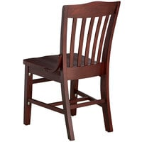 Lancaster Table & Seating Mahogany Finish Wooden School House Chair