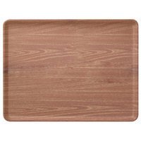Carlisle 1216LWFG063 Customizable 12 inch x 16 inch Glasteel Wood Grain Pecan Dietary Fiberglass Tray - 12/Case